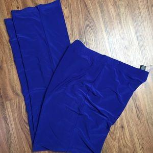 Clara Sun Woo Cobalt Blue Dressy Slacks Size XL